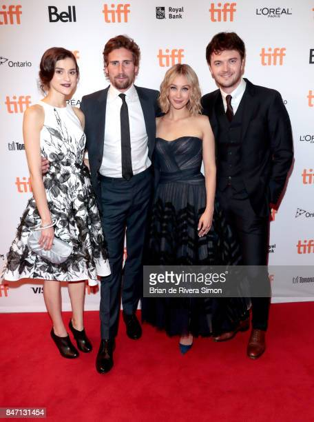 Rebecca Liddiard Edward Holcroft Sarah Gadon and Kerr Logan attend the 'Alias Grace' premiere during the 2017 Toronto International Film Festival at...