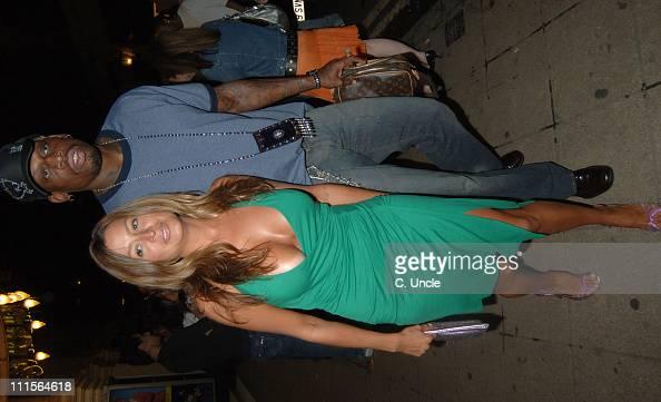 Rebecca Loos and Dennis Rodman during Dennis Rodman Party at Mo Vida in London June 30 2005 at Mo Vida in London Great Britain