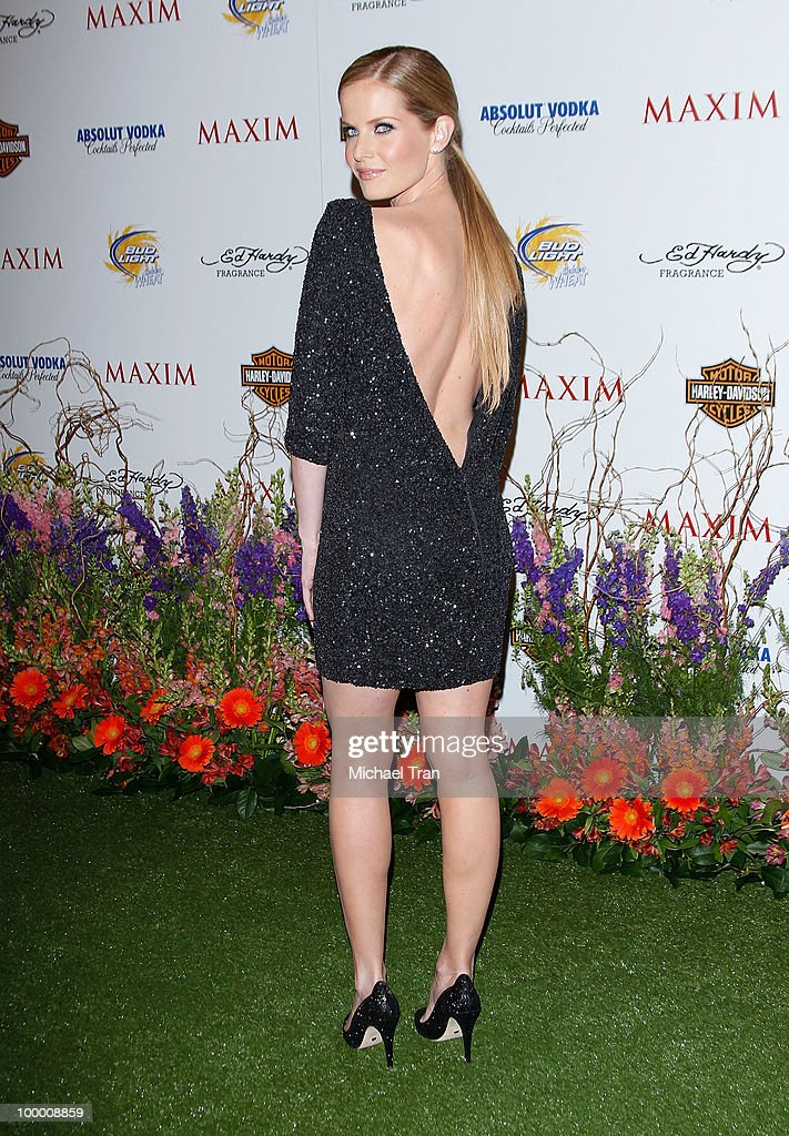 Rebecca Mader arrives for the 11th Annual MAXIM HOT 100 Party held at Paramount Studios on May 19, 2010 in Los Angeles, California.