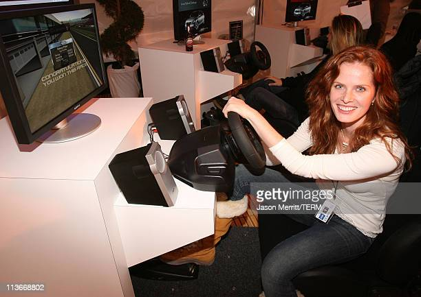 Rebecca Mader at Lexus at The Ice Lounge presented by The North Face Lexus and St Regis*Exclusive*