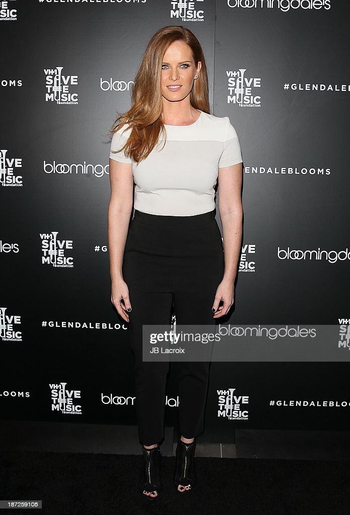 <a gi-track='captionPersonalityLinkClicked' href=/galleries/search?phrase=Rebecca+Mader&family=editorial&specificpeople=540377 ng-click='$event.stopPropagation()'>Rebecca Mader</a> attends Bloomingdale's Glendale Hosts Opening Gala Celebration With VH1 Save The Music Foundation at Bloomingdale's Glendale on November 6, 2013 in Glendale, California.