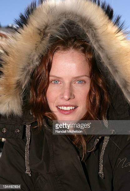 Rebecca Mader during 2007 Sundance Film Festival Rebecca Mader Outdoor Portraits at Delta Sky Lodge in Park City Utah United States