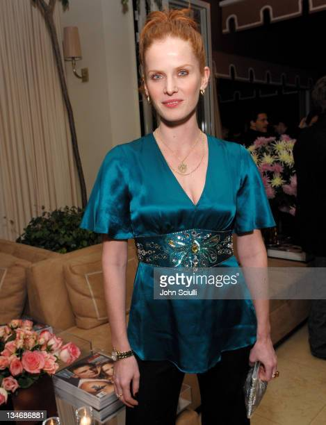 Rebecca Mader during Stuart Weitzman at the W Magazine PreGolden Globe Party at Sunset Towers in West Hollywood California United States