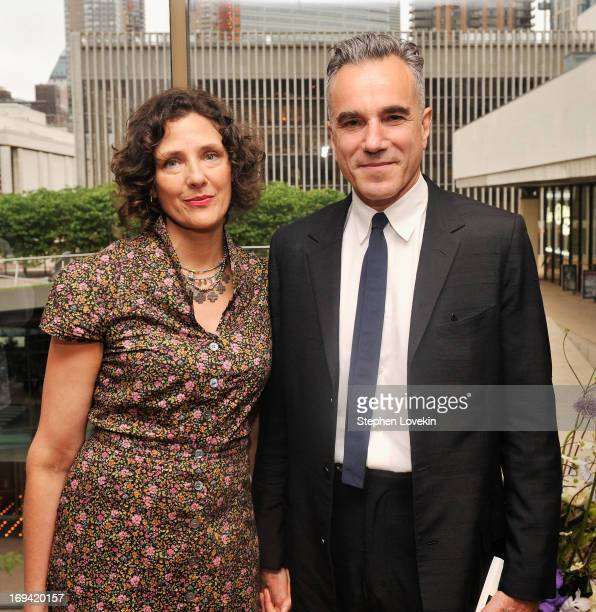 Rebecca Miller and actor Daniel DayLewis attend Juilliard's 108th Commencement Ceremony at Lincoln Center on May 24 2013 in New York City