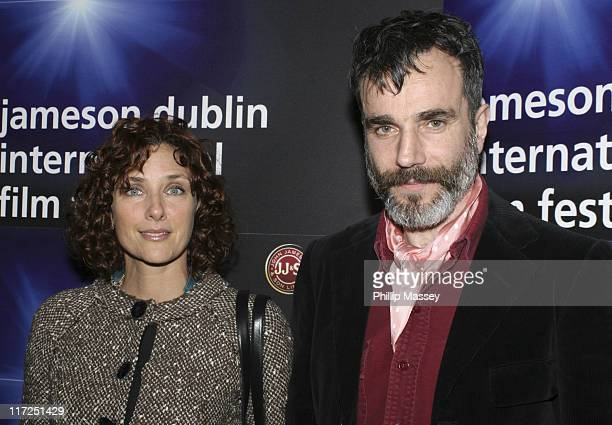 Rebecca Miller and husband Daniel Day Lewis during 4th Jameson Dublin International Film Festival Screening of Ballad of Jack and Rose at Savoy...