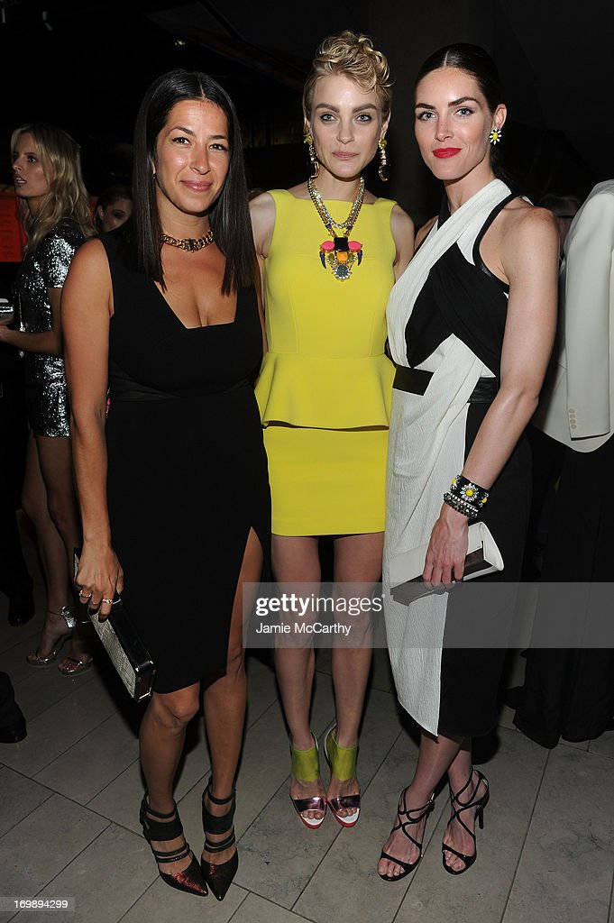 Rebecca Minkoff, Jessica Stam and Hilary Rhoda attend the 2013 CFDA Fashion Awards at Alice Tully Hall on June 3, 2013 in New York City.