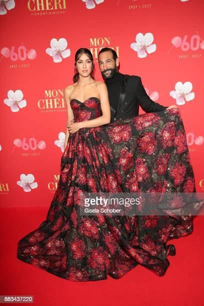 Rebecca Mir and her husband Massimo Sinato during the Mon Cheri Barbara Tag at Postpalast on November 30 2017 in Munich Germany