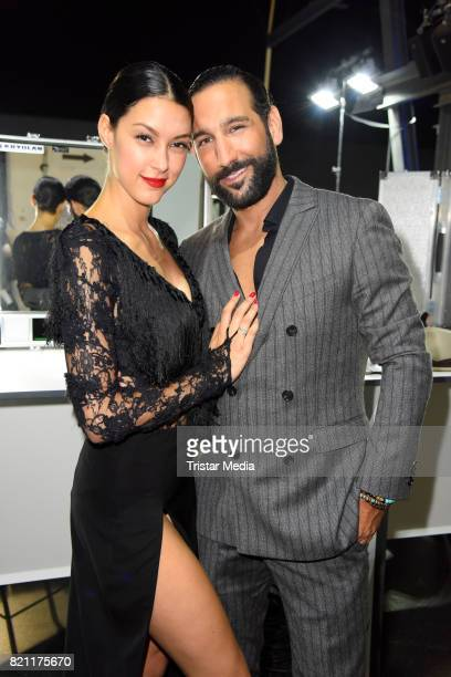 Rebecca Mir and her husband Massimo Sinato during the Unique show during Platform Fashion July 2017 at Areal Boehler on July 22 2017 in Duesseldorf...