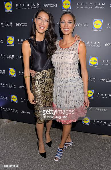 Rebecca Mir and Lilly Becker attend the Lidl popup store opening at Neuer Wall on September 7 2016 in Hamburg Germany