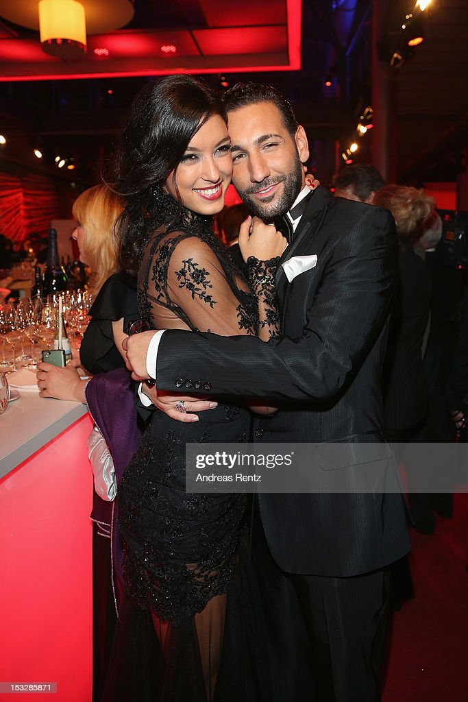 Rebecca Mir and Massimo Sinato attend the German TV Award party 2012 (Deutscher Fernsehpreis 2012) at Coloneum on October 2, 2012 in Cologne, Germany.