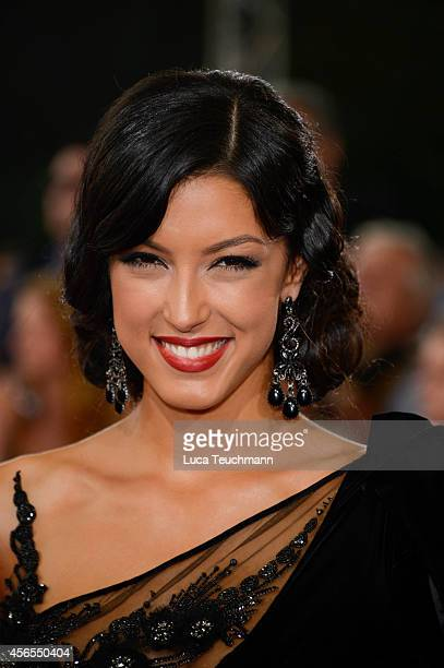 Rebecca Mir attend the red carpet of the Deutscher Fernsehpreis 2014 at Coloneum on October 2 2014 in Cologne Germany
