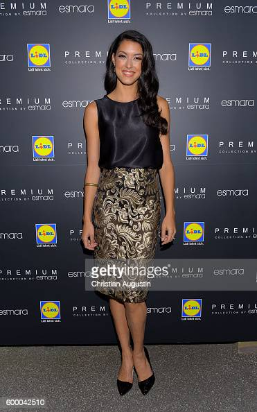 Rebecca Mir attends the Lidl popup store opening at Neuer Wall on September 7 2016 in Hamburg Germany