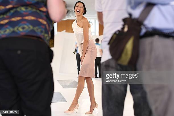 Rebecca Mir attends the Malaikaraiss defilee during the Der Berliner Mode Salon Spring/Summer 2017 at Kronprinzenpalais on June 28 2016 in Berlin...