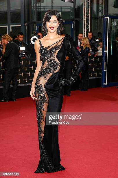 Rebecca Mir attends the red carpet of the Deutscher Fernsehpreis 2014 on October 02 2014 in Cologne Germany