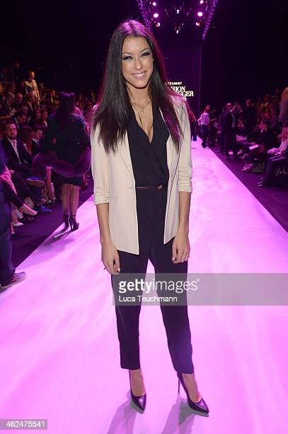 Rebecca Mir attends the Stylight Fashion Blogger Awards at Brandenburg Gate on January 13 2014 in Berlin Germany