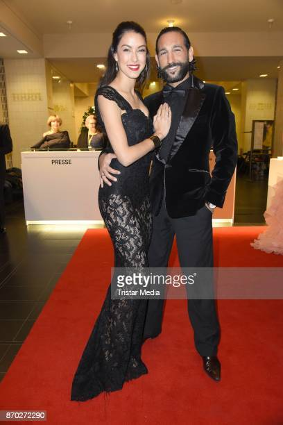 Rebecca Mir in a dress of Boss Couture and her husband Massimo Sinato attend the Leipzig Opera Ball on November 4 2017 in Leipzig Germany