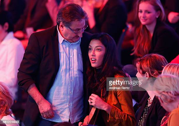 Rebecca Mir looks on prior to the 1st Show of 'Let's Dance' on RTL at Coloneum on March 28 2014 in Cologne Germany