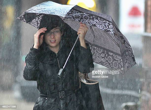 Rebecca Moran made her way to a bus stop on Massachusetts Avenue in Boston Tuesday December 9 2014