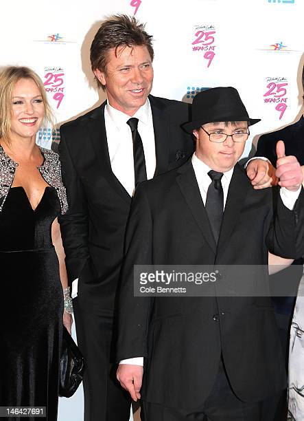 Rebecca Naso Richard Wilkins and son Adam arrive at Richard Wilkins 25 Year Anniversary Fundraiser For Down Syndrome at Fox Studios on June 16 2012...