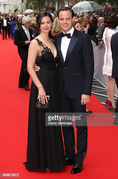 Rebecca Night and Harry HaddenPaton attends as BAFTA celebrate 'Downton Abbey' at Richmond Theatre on August 11 2015 in Richmond England
