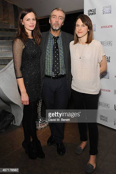 Rebecca Night and John Hannah and Amanda Hale attends the press night performance of 'Uncle Vanya' at The St James Theatre on October 13 2014 in...