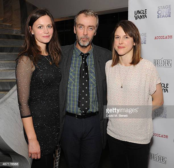 Rebecca Night John Hannah and Amanda Hale attend the press night performance of 'Uncle Vanya' at The St James Theatre on October 13 2014 in London...