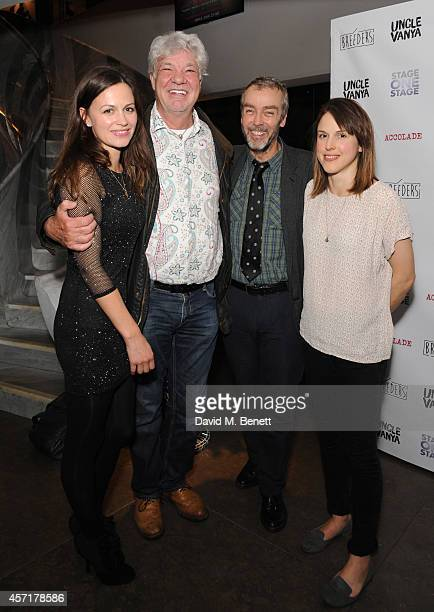 Rebecca Night Matthew Kelly John Hannah and Amanda Hale attends the press night performance of 'Uncle Vanya' at The St James Theatre on October 13...