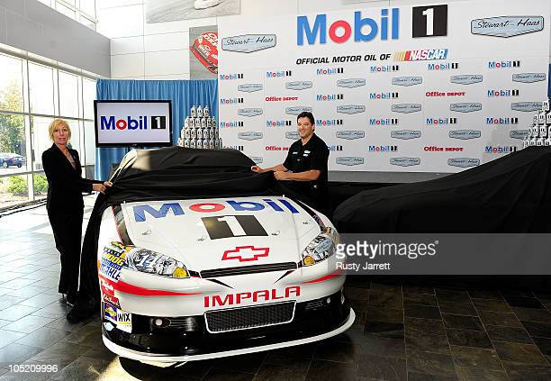 Rebecca Rahaim Mobil 1 Global Brand Manager and Tony Stewart StewartHaas Racing's driver/owner announced Mobil 1 as his coprimary sponsor with Office...