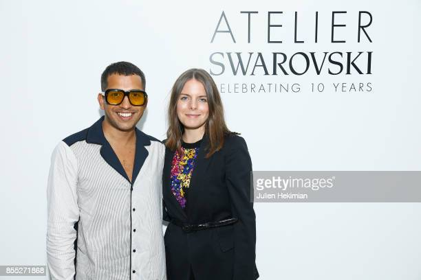 Rebecca Ramsey and Miguel Enamorado attend the Atelier Swarovski By Jason Wu dinner as part of the Paris Fashion Week Womenswear Spring/Summer 2018...