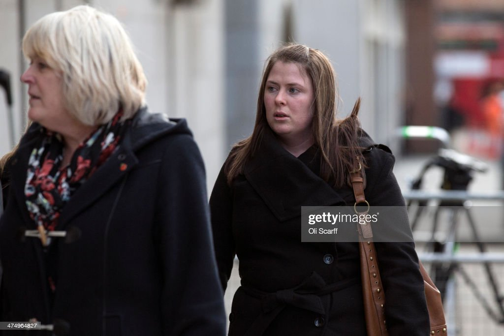 Rebecca Rigby the widow of murdered fusilier Lee Rigby arrives at the Old Bailey to attend the sentencing of Michael Adebolajo and Michael Adebowale...