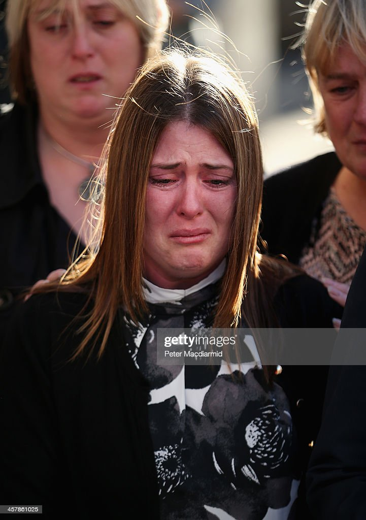 Rebecca Rigby, wife of murdered fusilier Lee Rigby, leaves the Old Bailey on December 19, 2013 in London, England. Michael Adebolajo and Michael Adebowale have been found guilty of murdering Fusilier Lee Rigby as he walked back to Woolwich Barracks in south-east London on May 22, 2013.