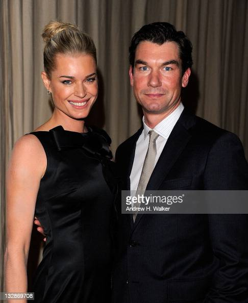 Rebecca Romijn and Jerry O'Connell attend the 8th Annual CFDA/Vogue Fashion Fund Awards at the Skylight SOHO on November 14 2011 in New York City