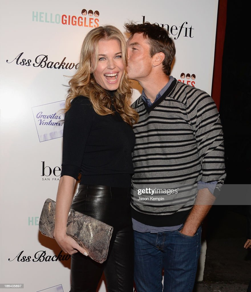 Rebecca Romijn and Jerry O'Connell attend the premiere of Gravitas Ventures' 'Ass Backwards' at the Vista Theatre on October 30, 2013 in Los Angeles, California.