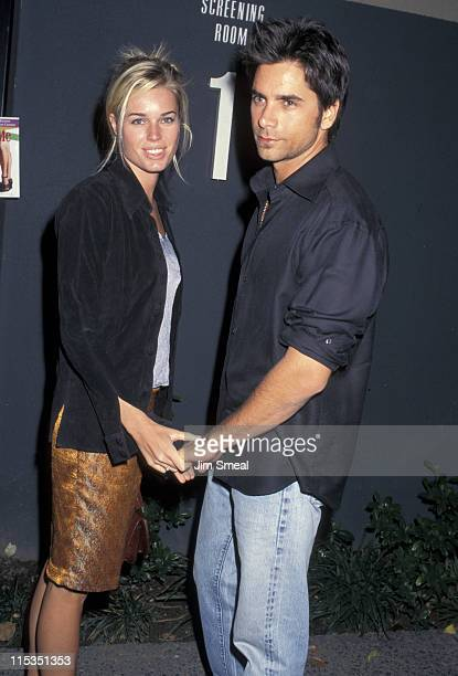 Rebecca Romijn and John Stamos during 1st Annual Hollywood Film Festival 'Allie And Me' Screening at Universal Studios in Los Angeles California...