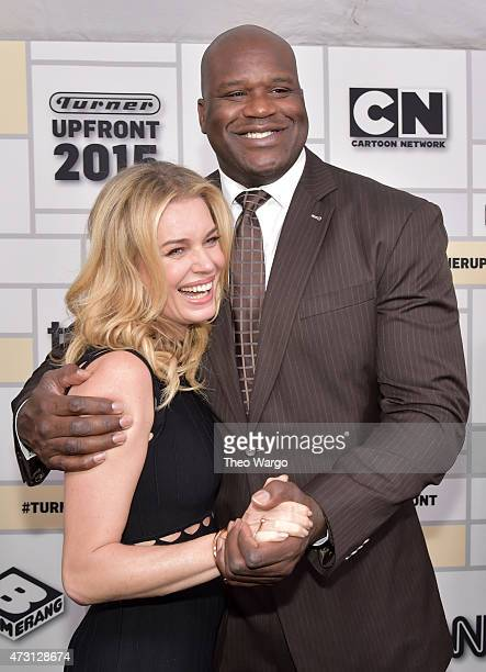 Rebecca Romijn and Shaquille O'Neal attend the Turner Upfront 2015 at Madison Square Garden on May 13 2015 in New York City JPG