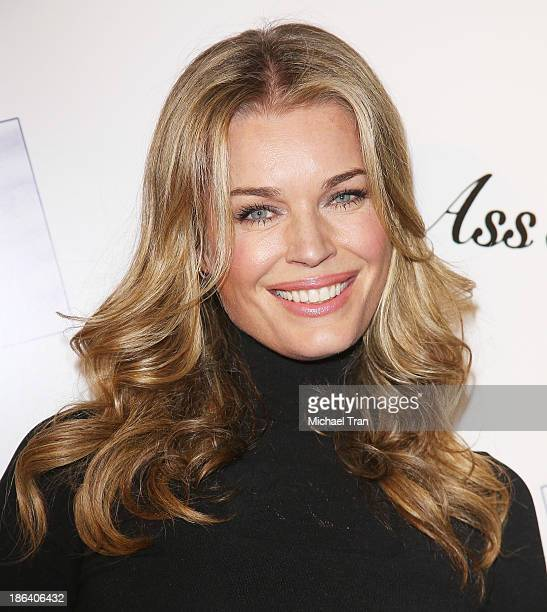Rebecca Romijn arrives at the Los Angeles premiere of 'Ass Backwards' held at the Vista Theatre on October 30 2013 in Los Angeles California