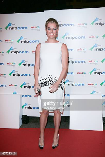 Rebecca Romijn arrives at the MIPCOM opening Party at Hotel Martinez on October 13 2014 in Cannes France