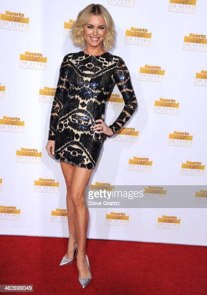 Rebecca Romijn arrives at the NBC And Time Inc 50th Anniversary Celebration Of Sports Illustrated Swimsuit Issue Hosted By Heidi Klum at Dolby...