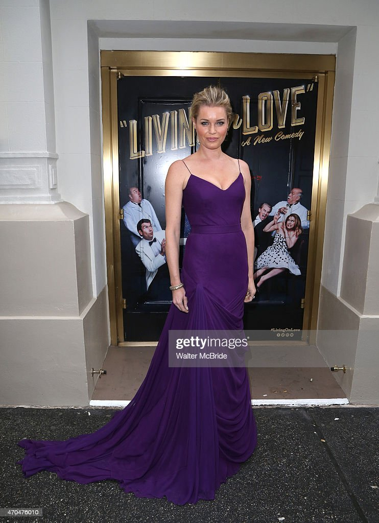 Rebecca Romijn attends the Broadway Opening Night Performance of 'Living on Love' at The Longacre Theatre on April 20 2015 in New York City