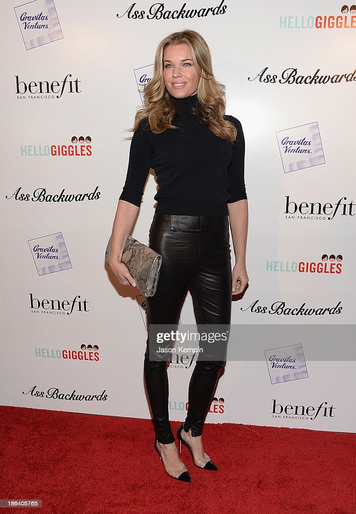 Rebecca Romijn attends the premiere of Gravitas Ventures' 'Ass Backwards' at the Vista Theatre on October 30 2013 in Los Angeles California