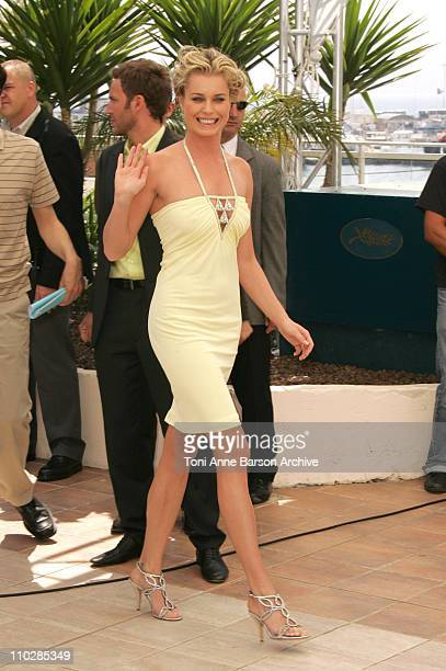 Rebecca Romijn during 2006 Cannes Film Festival 'XMen 3 The Last Stand' Photocall at Palais des Festival Terrace in Cannes France
