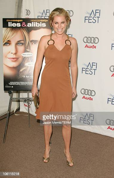 Rebecca Romijn during AFI Film Festival 'Lies Alibis' Premiere Arrivals at Arclight in Hollywood California United States
