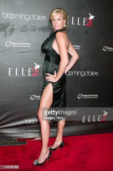 Rebecca Romijn during ELLE Magazine's 21st Birthday VIP Bash Benefiting EIF's National Colorectal Cancer Research Outside Arrivals at Bloomingdale's...
