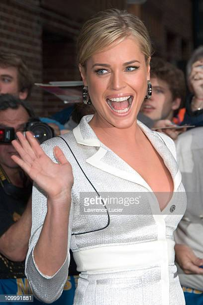 Rebecca Romijn during Rebecca Romijn Visits The Late Show With David Letterman May 18 2006 at Ed Sullivan Theater in New York City New York United...