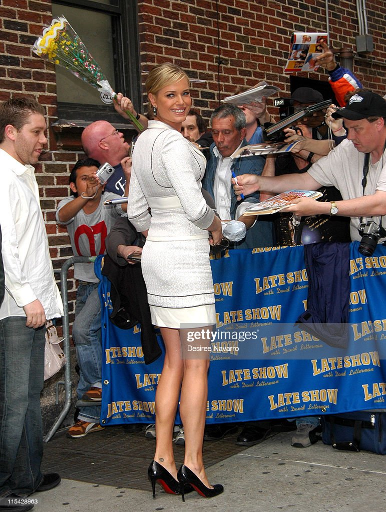 "Rebecca Romijn Visits ""The Late Show With David Letterman"" - May 18, 2006"