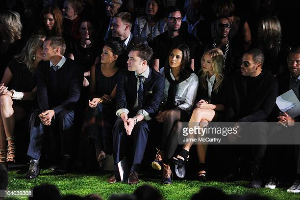 Rebecca Romijn Jason Lewis Jessica Szohr Ed Westwick Kidada Jones Kristen Bell Lenny Kravitz and Benny Medina attend the Tommy Hilfiger Spring 2011...