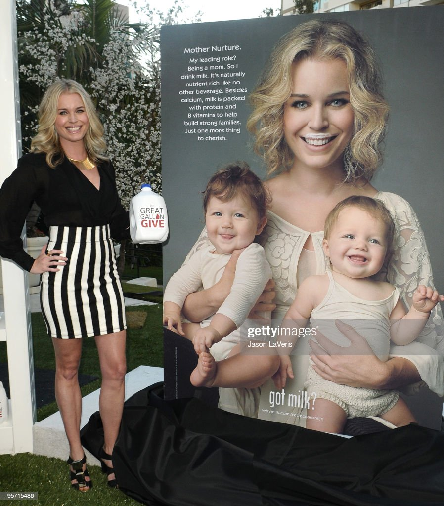 Rebecca Romijn launches the National Milk Mustache 'got milk' Great Gallon Give program at The Backyard at W Hotel on January 11 2010 in Westwood...