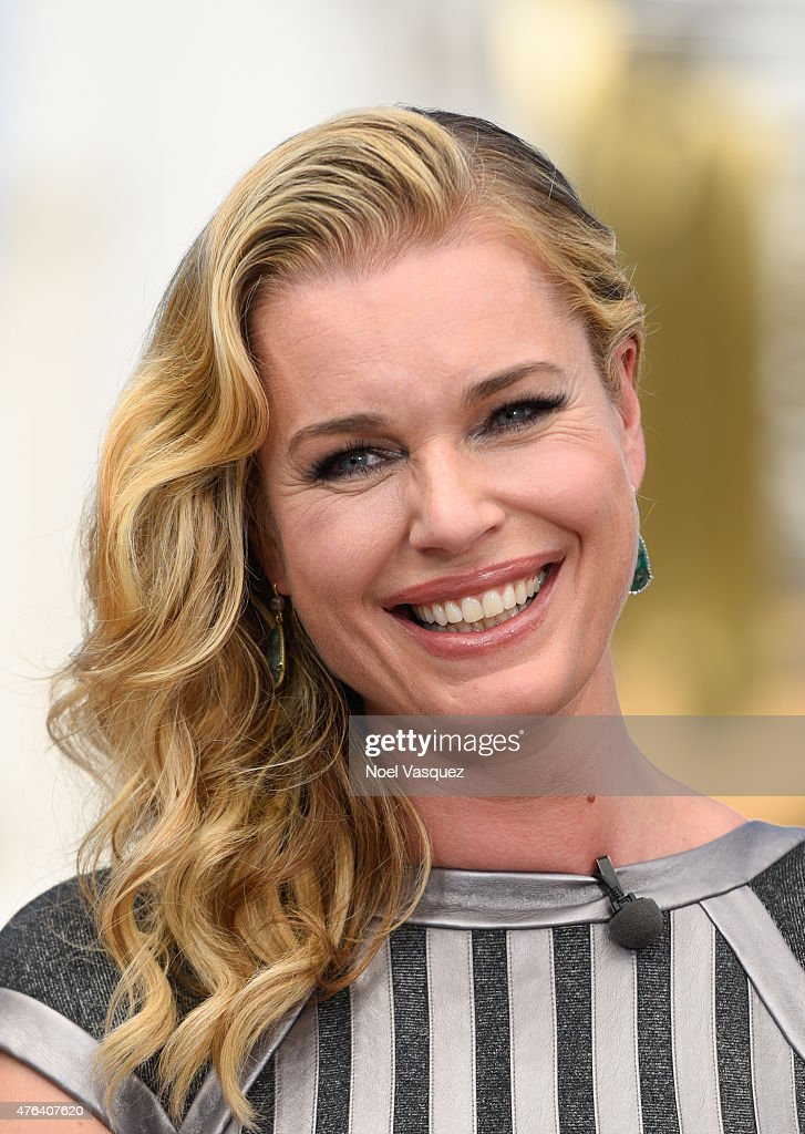 Rebecca Romijn visits 'Extra' at Universal Studios Hollywood on June ...