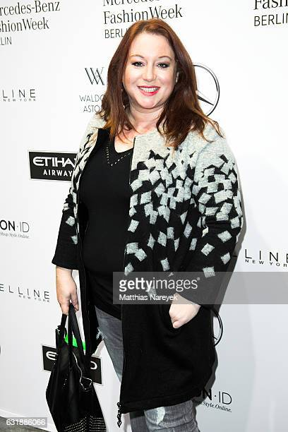Rebecca SiemoneitBarum attends the holyGhost show during the MercedesBenz Fashion Week Berlin A/W 2017 at Kaufhaus Jandorf on January 17 2017 in...