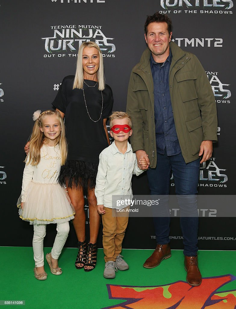 Rebecca Stevens and <a gi-track='captionPersonalityLinkClicked' href=/galleries/search?phrase=Jason+Stevens&family=editorial&specificpeople=223961 ng-click='$event.stopPropagation()'>Jason Stevens</a> attend the Australian Premiere of Teenage Mutant Ninja Turtles 2 at Event Cinemas George Street on May 29, 2016 in Sydney, Australia.